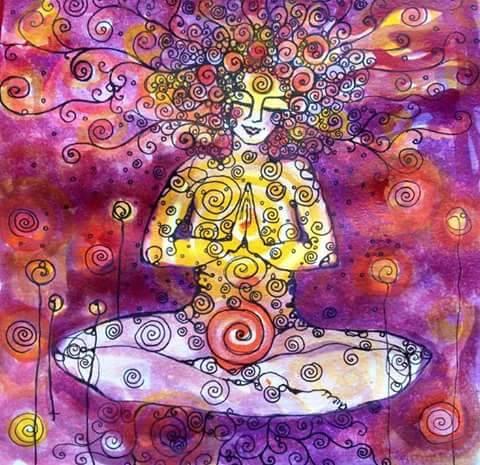yoga colore danza donna_ Nuova Umanità